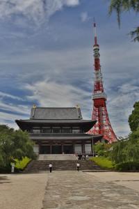 Zojo-ji tempel & Tokyo tower