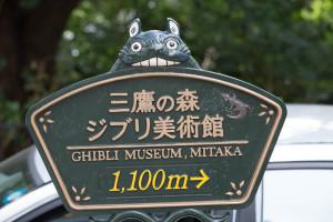 Bewegwijzering naar Ghibli museum