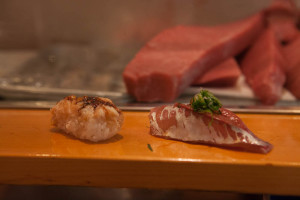 Nigiri - Baby Shrimp & Horse Mackerel