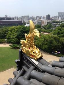 Uitzicht vanaf Okayama Castle