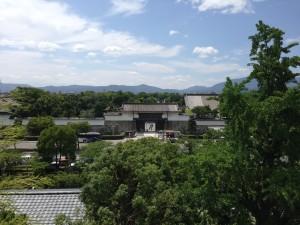 Uitzicht Crown Kyoto op Nijio Castle